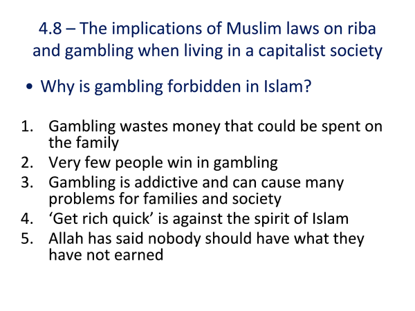 Preview of Riba and Gambling