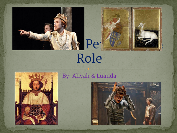 Preview of Richard II personality