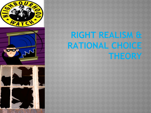 Preview of RIGHT REALISM AND RATIONAL CHOICE THEORY..MADE SIMPLE