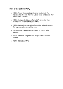 Preview of Rise of the Labour Party
