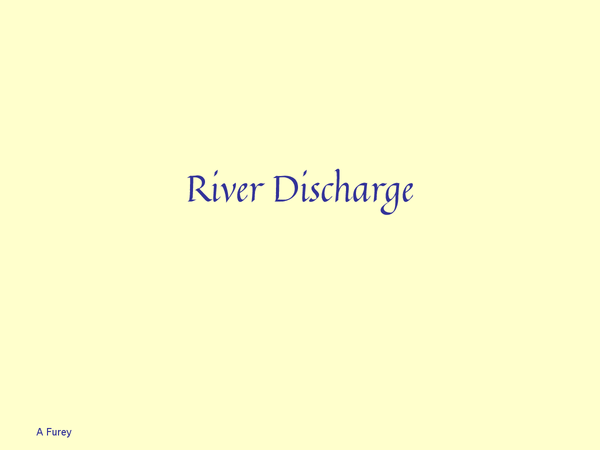 Preview of river discharge