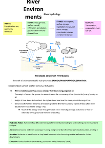 Preview of River Enviroment Notes (complete)
