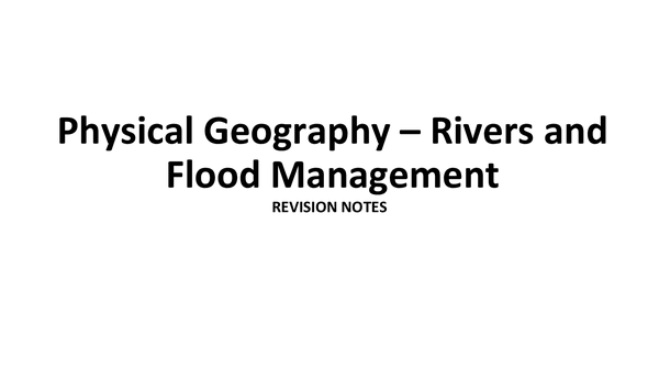 Preview of Rivers And Flood Management - Revision Notes