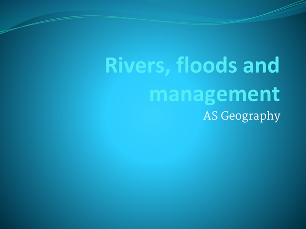 Preview of Rivers, Floods and Management