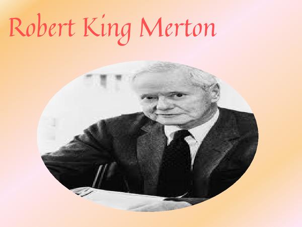 Preview of Robert Merton