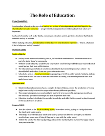 Preview of Role of Education