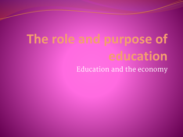 Preview of role of education part 2