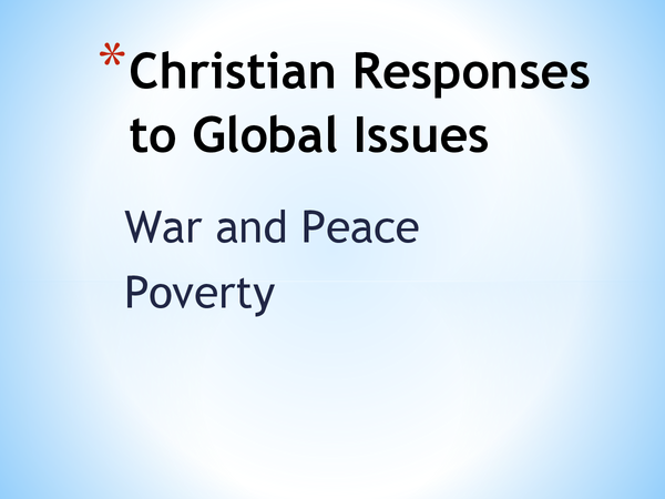 Preview of Roman Catholicism Ethics Topic 6 - Christian Responses to Global Issues