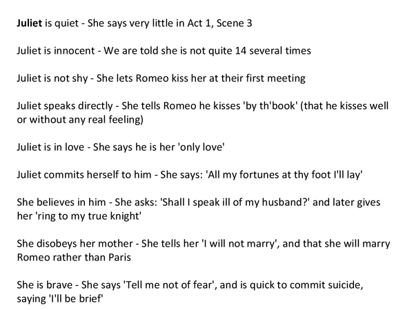 Preview of Romeo and Juliet Characters