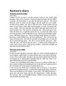 Preview of Romeo and Juliets diary