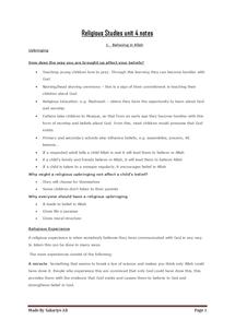 Preview of Edexcel Religious Studies Unit 4: Islam