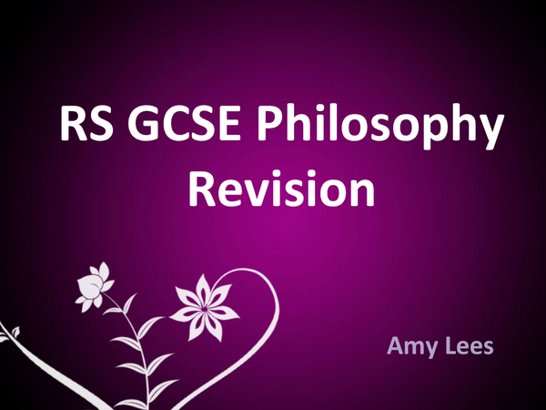 Preview of RS GCSE Philosophy - Nature of God