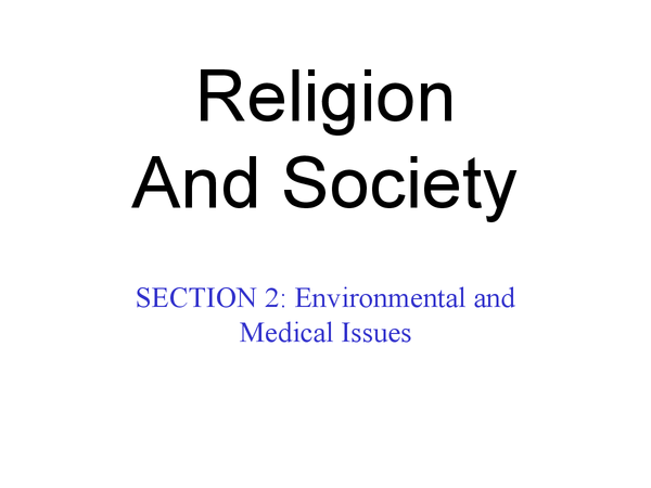Preview of RS, unit 8 (Religion and society), section 2