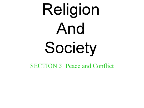 Preview of RS, unit 8 (Religion and society), section 3