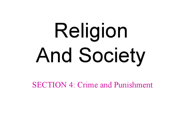 Preview of RS, unit 8 (Religion and society), section 4