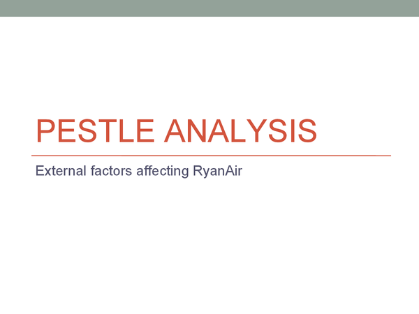 Preview of Ryanair PESTLE & SWOT Analysis
