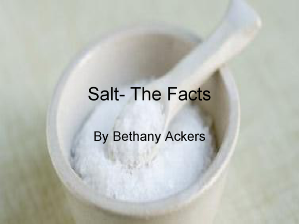 Preview of Salt- The Facts