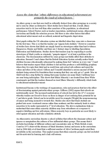 Preview of Sample Essay on Ethnicity and Education