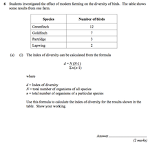 Preview of sample question - worth 2 marks