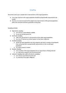 Preview of Sampling - Methods