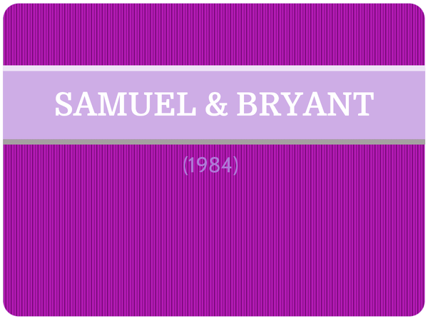 Preview of Samuel & Bryant (1984) - AS Core Study