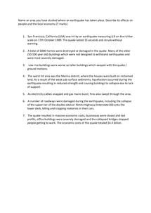 Preview of San Fransisco earthqake case study