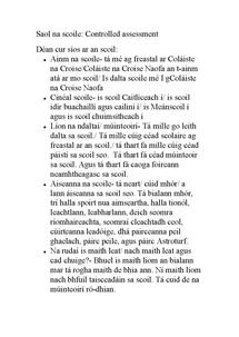 Preview of Saol na Scoile