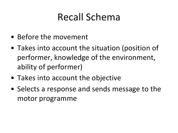 Preview of Schema and skill aquisition