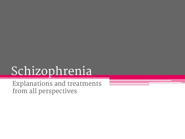 Preview of Schizophrenia