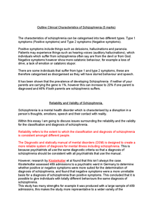 Preview of Schizophrenia PSYA4