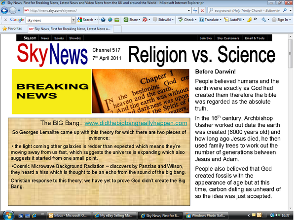 Preview of Science and Religion module