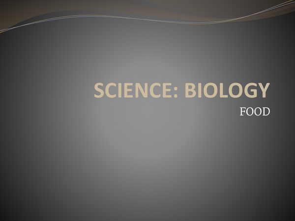 Preview of Science: Food