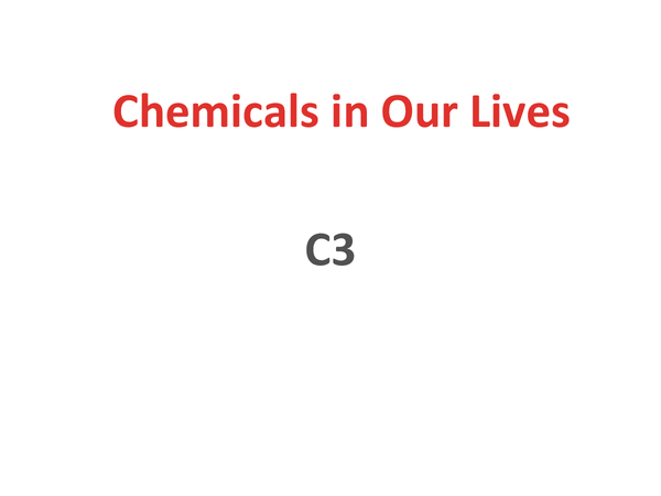 Preview of Science OCR 21st Century- C3 Revision Powerpoint