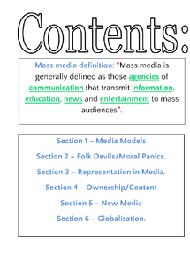 Preview of SCLY3 Mass Media Revision Notes.