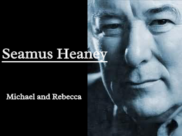 Preview of Seamus Heaney