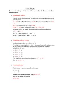 Preview of Secrets of Algebra