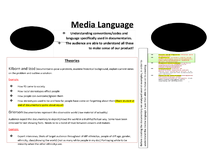 Preview of Section A 1B Media Language