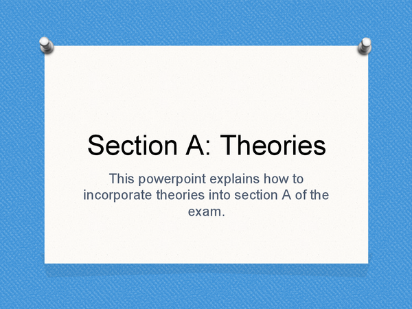 Preview of Section A: Theory Application