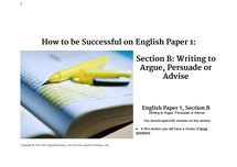 Preview of Section B help for GCSE English Language