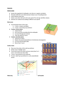 Preview of seismic waves and measuring earthquakes