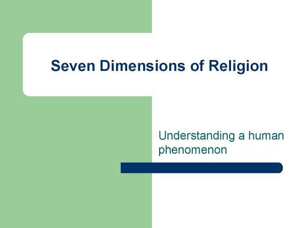 the seven dimensions of christianity essay Christianity is growing rapidly in some of the most dangerous areas of the world, particularly in parts of asia, sub-saharan africa,  about ignitum today.