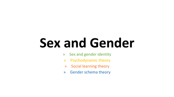 Preview of Sex and gender