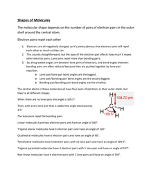 Preview of Shapes - Chemistry AQA A Unit 1