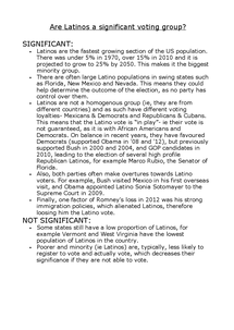 Preview of Significance of Latino voters