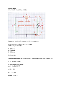 Preview of Simples Terms : Series Circuits