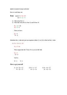 Preview of Simultaneous Equations!
