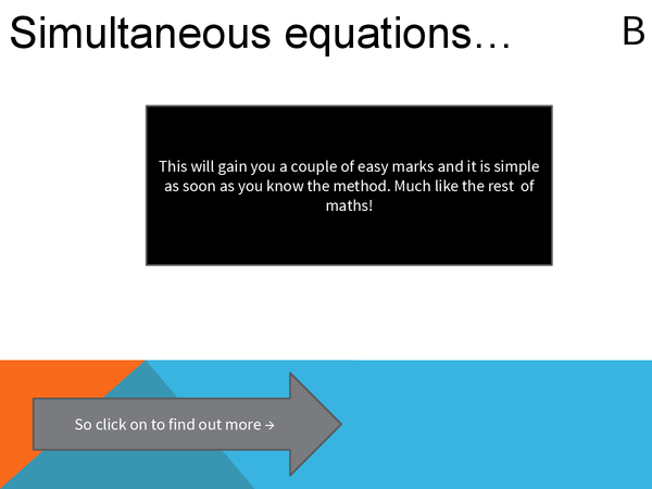 Preview of Simultaneous equations.