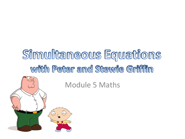 Preview of Simultaneous Equations 2003 powerpoint version