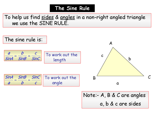 Preview of Sine rule