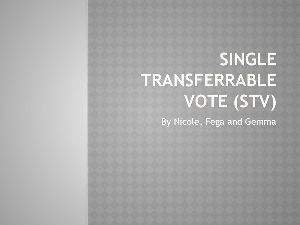 Preview of Single Transferable Vote Powerpoint